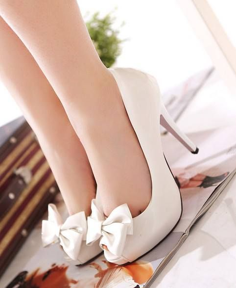 White Colored High Heel Shoes For Ladies Click the…