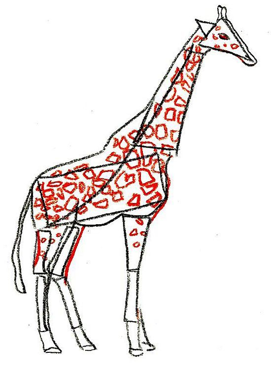 how to draw a giraffe step by step video