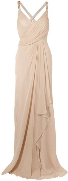 Anoushka G Paula Grecian Drape Dress - Lyst