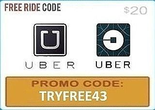 #Uber: https://get.uber.com/invite/TRYFREE43  #Lyft: https://www.lyft.com/invited/PA1  Drizly :TRY409  UberEats: FIRSTTIME  Minibar: TRY6  Get your first Uber ride for FREE. Add promo code TRYFREE43 in the app under the promotions tab Don't have a designated driver? No worries if you're new to UBER..just download the app to get your first ride free!!! If you & your friend are both new & do this you'll get a uber ride there and back! Code never expires so once you have it set up you'll be…