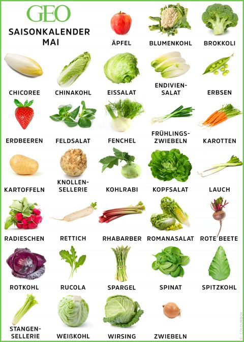 Saisonkalender im Mai: Regionales Obst und Gemüse - [GEO]