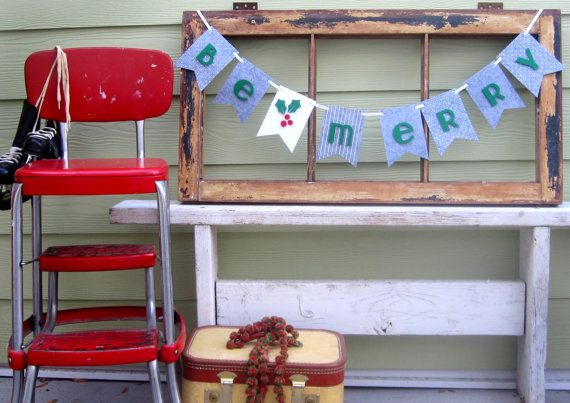 Our Be Merry Banners are the perfect addition to your Holiday Celebrations!! Use them year after year. They will soon be a favorite tradition. Our banners are sturdy and durable unlike paper or cardboard banners! These will last!  Each banner piece measures 4 inches wide by 5.5 inches tall. Each piece is laser cut with letters layered and applied. Polka Dots and stripes make this banner whimsical and fun.  Our buntings are made from a think felt that is both stiff and sturdy. It measures 3mm…