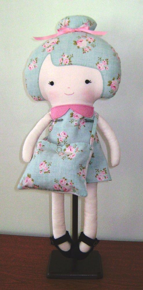 Handmade cloth rag 18 inch dolls and daydreams ballerina doll