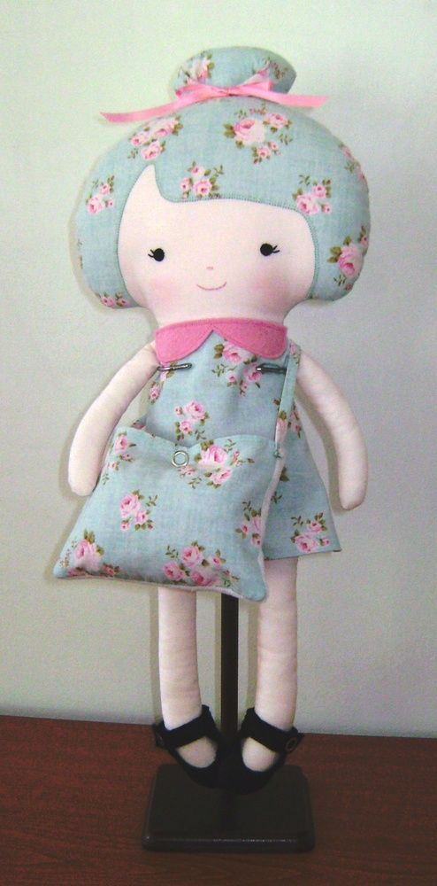 Handmade cloth rag 18 inch dolls and daydreams ballerina doll