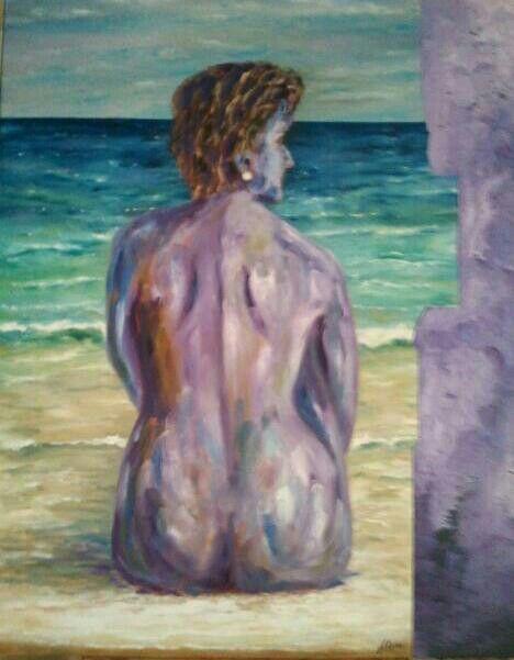 Oil and sand on canvas by Jesús Ojeda.