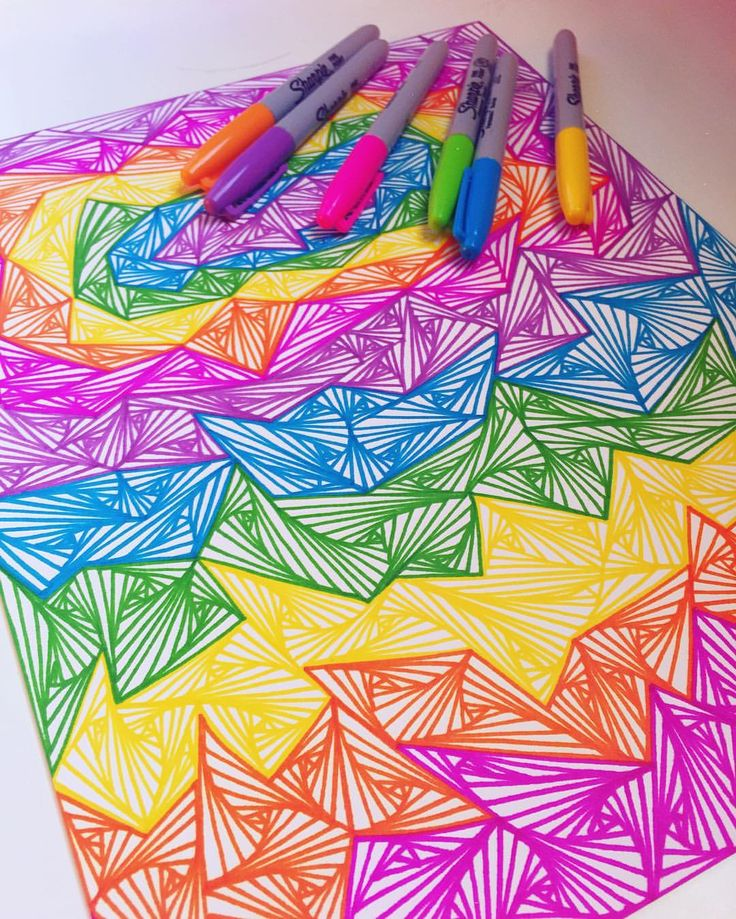 colorful easy drawing designs the image