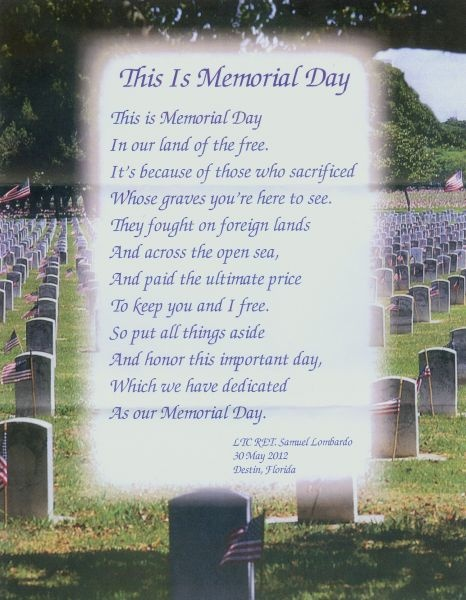 memorial day poems and prayers