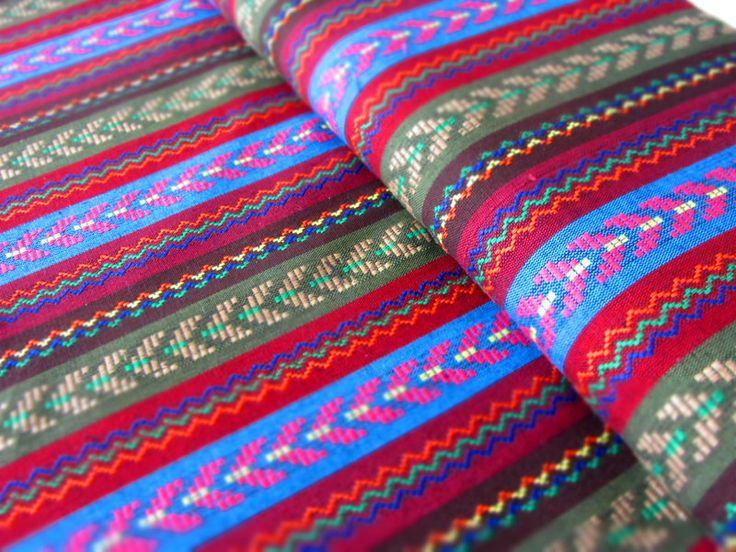Mexikanischer Ethno Stoff - khaki { Ikat Muster } von miss minty auf DaWanda.com