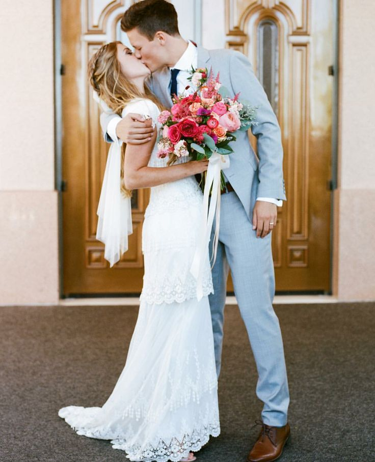 modest wedding dress with cap sleeves from alta moda. -- (modest bridal gown)