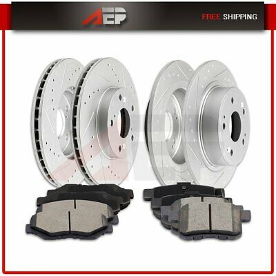 Front Brake Rotors and Metallic Pads For 2008 2009 2010 BMW 535i 550i 650i