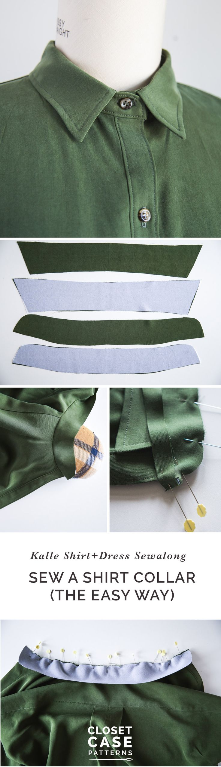 The easy way to sew a shirt collar!! // by Closet Case Patterns via @closetcasepatt