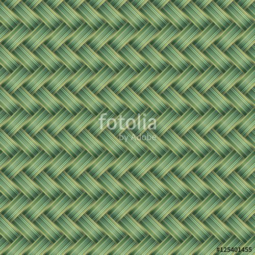 Vektör: Green Wicker Seamless pattern
