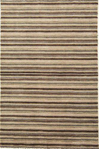 Teppich Wohnzimmer Carpet modern Design JOSEPH STREIFEN RUG 100% Neuseeländische Wolle 90x150 cm Rechteckig Beige/Grau | Teppiche günstig online kaufen https://www.amazon.de/dp/B017KNDN4O