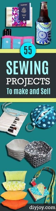 Easy Sewing Projects to Sell  - DIY Sewing Ideas for Your Craft Business. Make Money with these Simple Gift Ideas, Free Patterns, Products from Fabric Scraps, Cute Kids Tutorials diyjoy.com/...