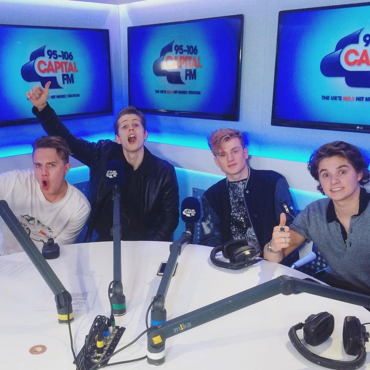 3/4 The Vamps with Roman Kemp taking on the Celebrity Phone Swap
