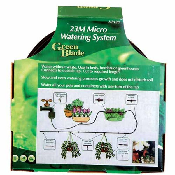 Micro Irrigation System 23m Garden Watering Drip Kit Greenhouse Plants Flowers