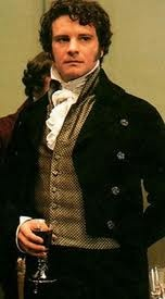 the proud and haughty Mr Darcy played to perfection by Colin Firth in the 1995 bbc version of 'pride and prejudice'