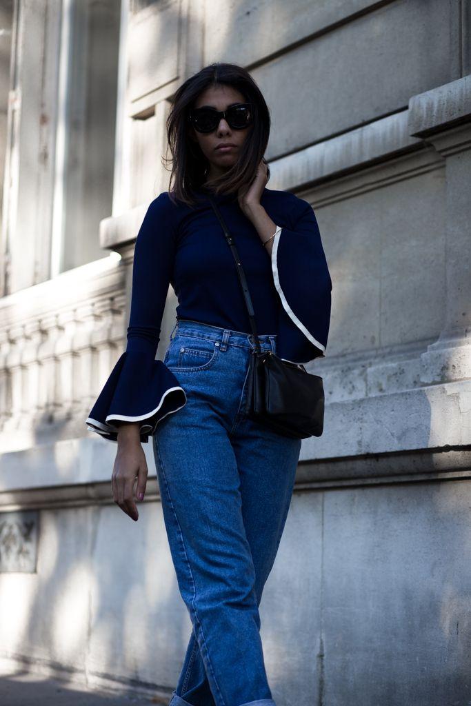 theadorabletwo_storets_blouse_blue_vintage_mom_jeans_celine_trio_bag_gucci_princetown_slipper