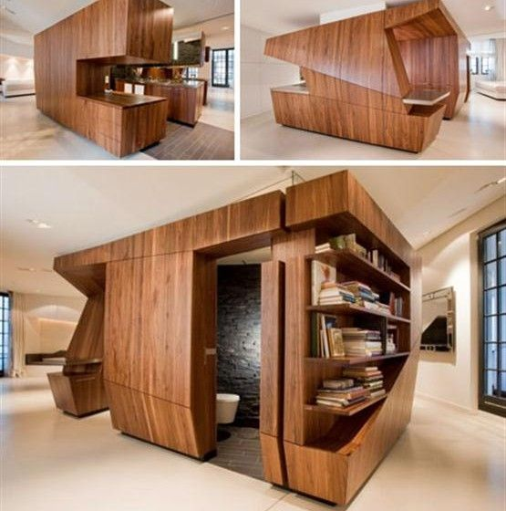 Modern space saving furniture and furniture on pinterest for Space saving kitchen designs