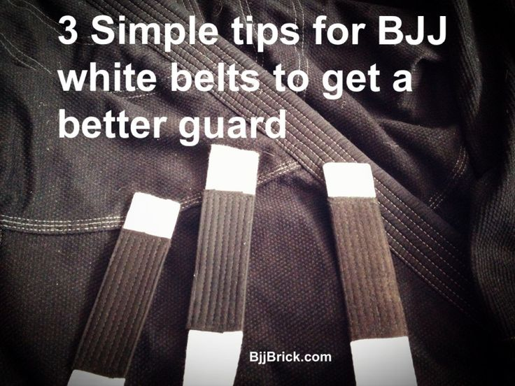 3 Simple tips for BJJ white belts to get a better guard