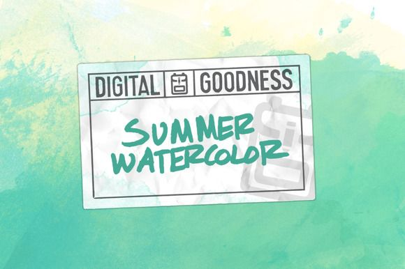 Summer Watercolor Paper by Digital Goodness on @creativemarket