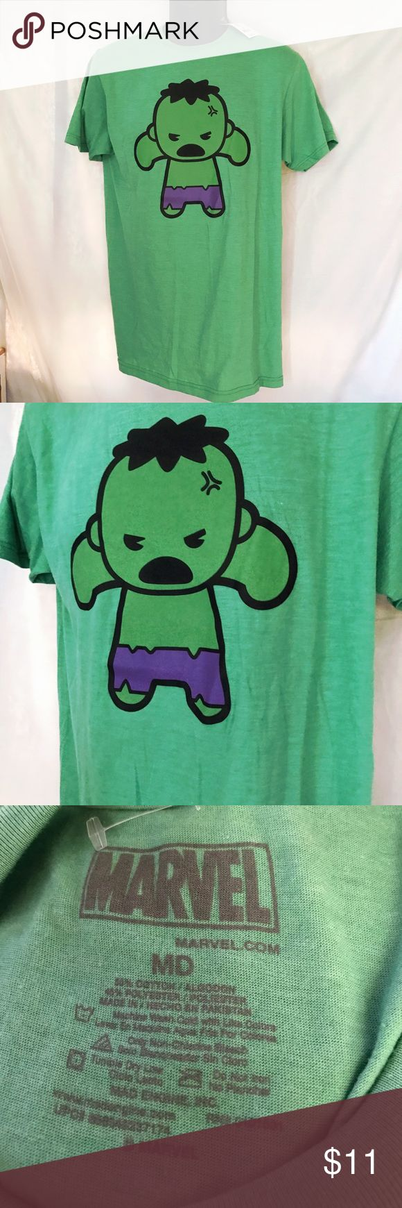 "Marvel Avengers Angry Hulk Chibi Men's Tee NWT Marvel Avengers Angry Hulk Chibi Men's Tee NWT Size M.        Length 30"" Chest 20"" Marvel Shirts Tees - Short Sleeve"