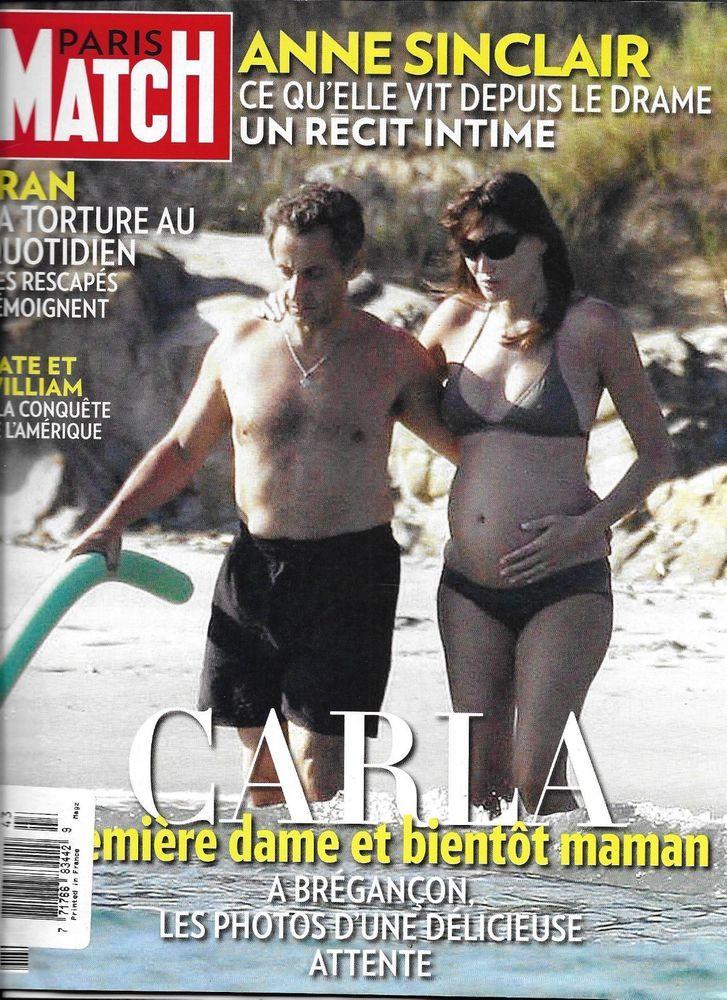Paris Match Magazine Nicolas Sarkozy Carla Bruni Anne Sinclair Kate Middleton Carla Bruni Yves Saint Laurent Paris Laetitia