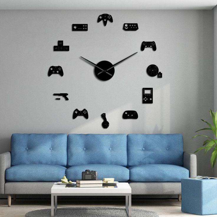 Game controller video diy giant wall clock game joysticks