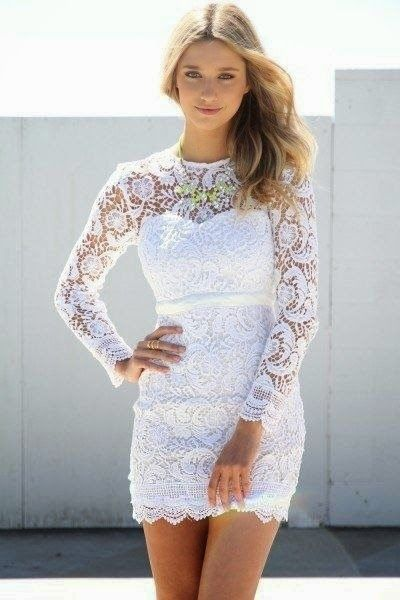 White Lace Mini dress, for reception maybe?