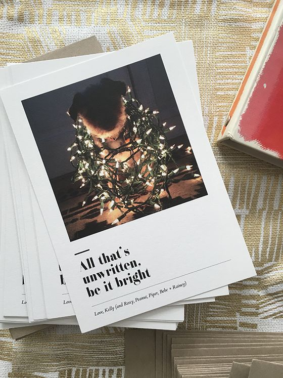 Artifact Uprising Holiday Cards via @designcrush