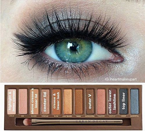EAST Urban Decay Naked palette eyeshadow how-to looks (Green-eyed girls must see this!!) #beauty