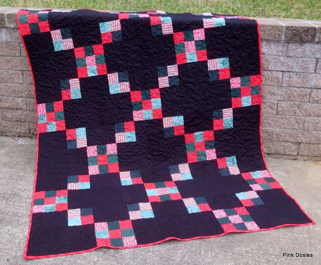 Pink Doxies: Charity Chain Quilt Pattern Free & Easy