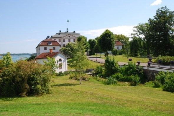 The Mauritzberg Manor House, Norrköping. The Bråviken Bay in the background.