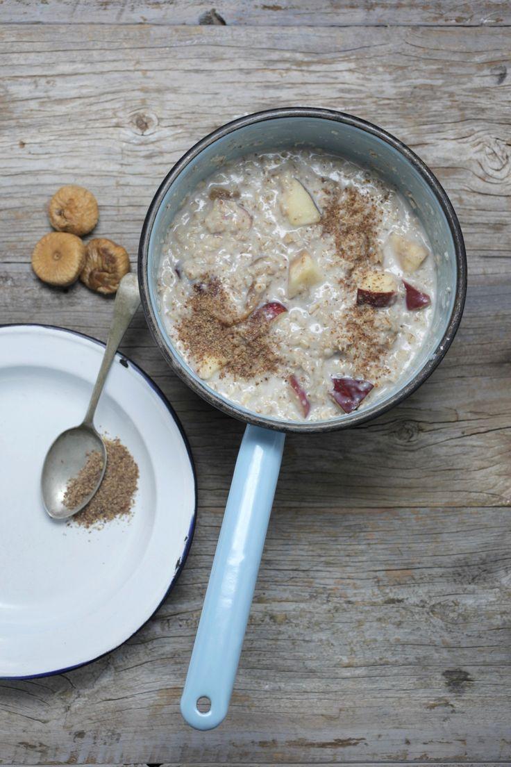 Quinoa Power Porridge (use rice milk; omit seeds) Apple and cinnamon make this porridge taste just like apple strudel.