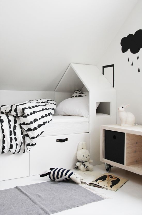 7 Black and White Kids Spaces - Petit & Small