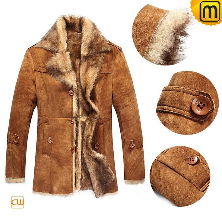 16 best Mens shearling marlboro man sheepskin fur coat images on ...