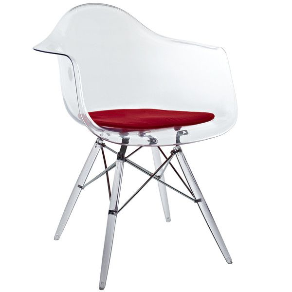 clear plastic furniture. lexmod eiffel arm chair with clear seat and wooden legs plastic furniture