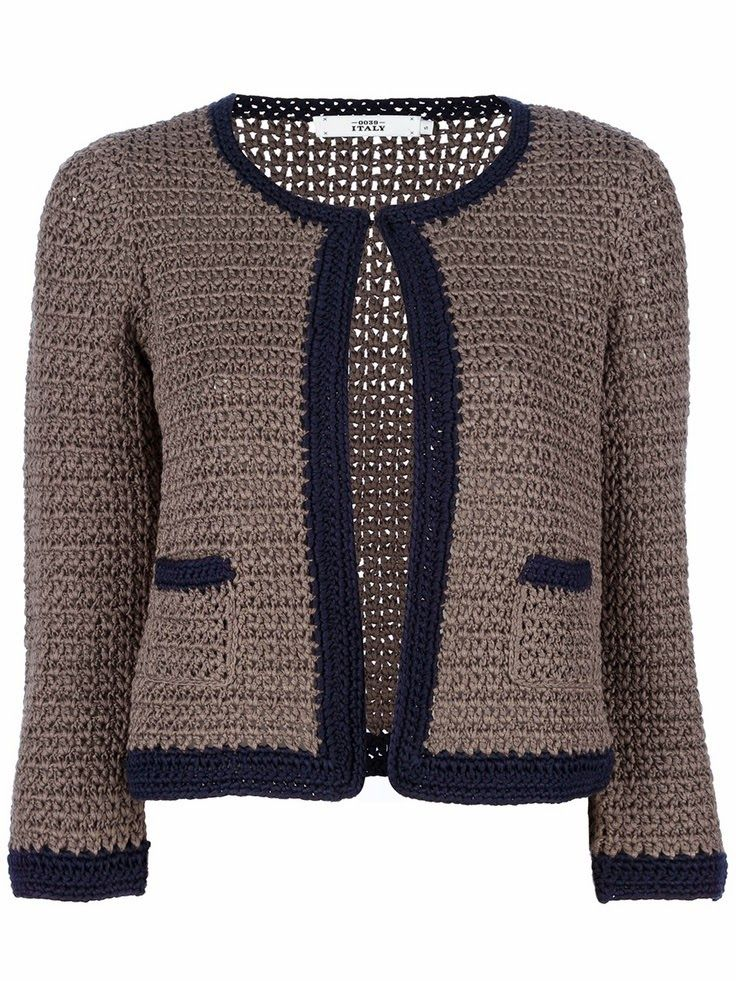 Crochetemoda: Casacos/ Cardigans de Crochet