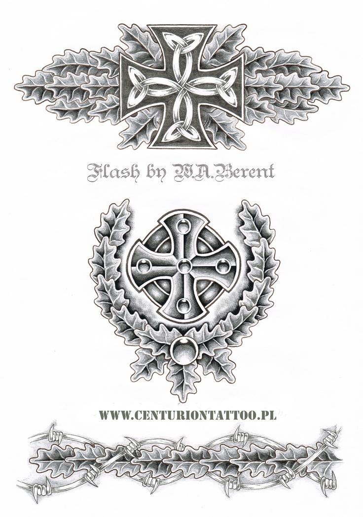 Celtic iron cross tattoo flash W.A. Berent Centuriontattoo