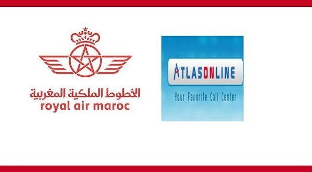 Atlas On Line, Filiale du groupe Royal Air Maroc, est un Centre de Gestion de la Relation Client (télémarketing, support...