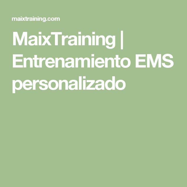 MaixTraining | Entrenamiento EMS personalizado