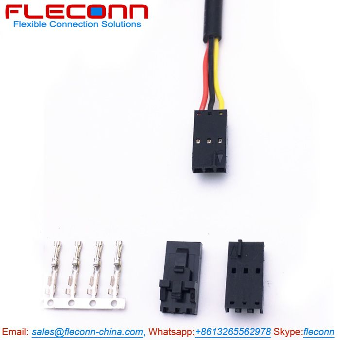 molex 70400 series sl 3 pin connector wire harness with version g housing