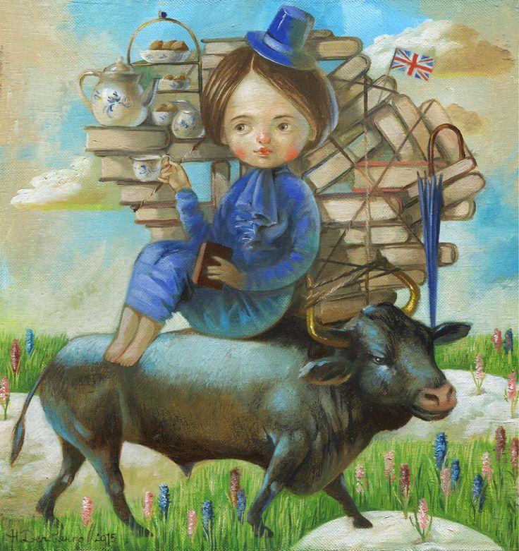 Картина English tea Натальи Деревянко - художница Наталья Деревянко