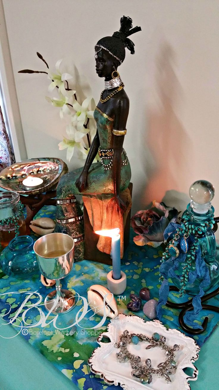 7 Day Altar Working for Yemaya, Comfort, Security, Finances & Job, Children, Fertility, Dream Magick by Barefoot Witchery Shoppe on Amaranth