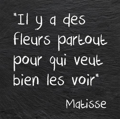 """There are flowers everywhere for the person who wants to see them."" ~Matisse #quotes #French"