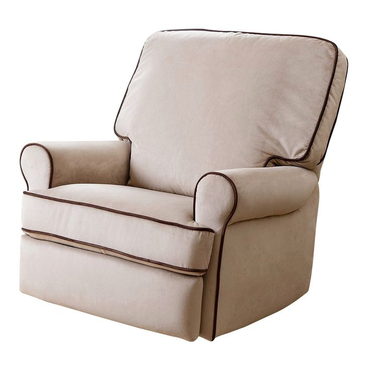 Bentley Fabric Swivel Glider Chair Recliner Chair - Sand - Abbyson Living