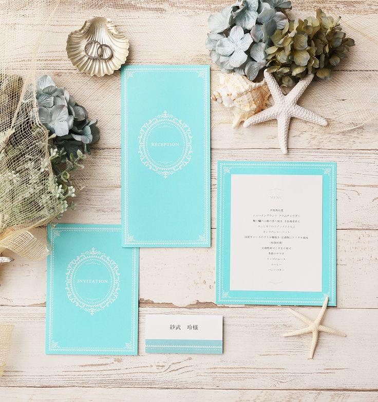 ティファニーカラー ♡結婚式の青でエレガントな席次表まとめ一覧♡