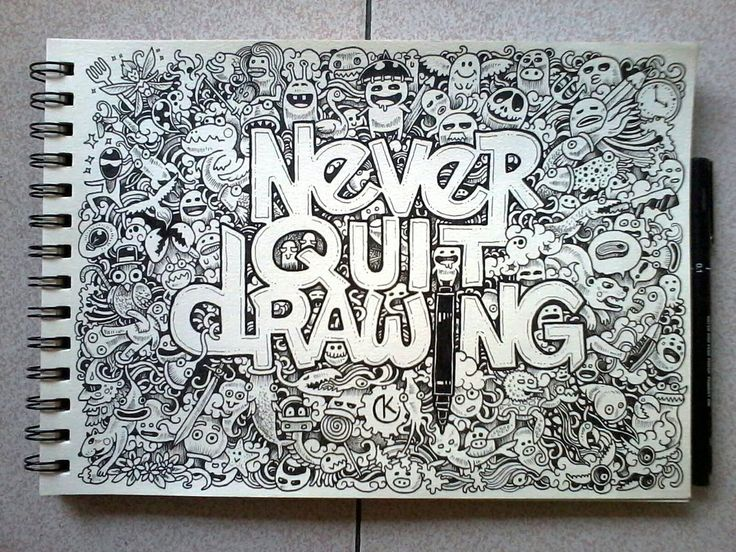 Never quit drawing by Kerby Rosanes