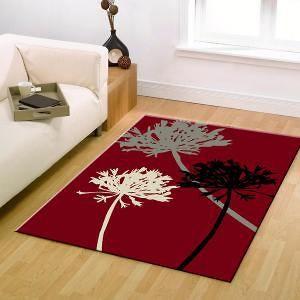 Agapanthus+Bud+Modern+Rug+Brown+Red+Black+230x160cm
