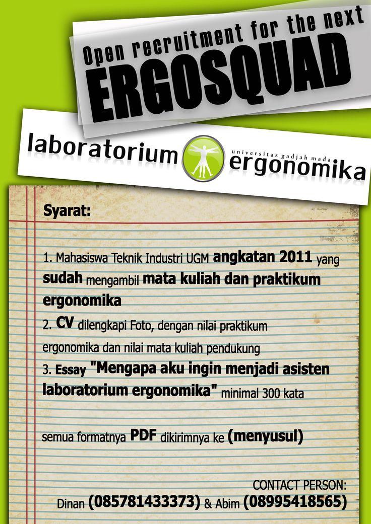 Oprec Lab Ergo